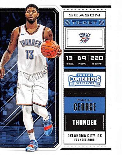 timeless design aa024 6eae8 Amazon.com: Paul George basketball card (Oklahoma City ...