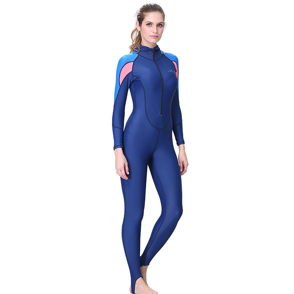 cf32d58e9b Amazon.com  Karc Adult One Piece Scuba Diving Suit with Hood for Swimming  Snorkeling with UV Sun Protection Long Sleeve Wetsuit Bodysuit for Men    Women  ...