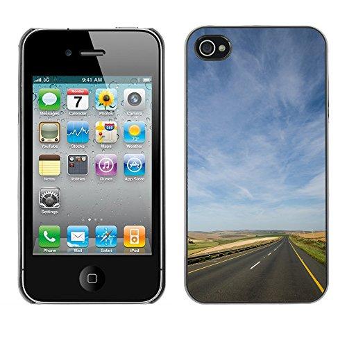 Premio Sottile Slim Cassa Custodia Case Cover Shell // F00031826 Freeway horizon // Apple iPhone 4 4S 4G
