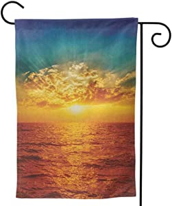 Mannwarehouse Lovely Flag Seasonal Garden Flag, Home Outdoor Decorative Print Both Sides for All Seasons & Holidays Ocean Multicolor