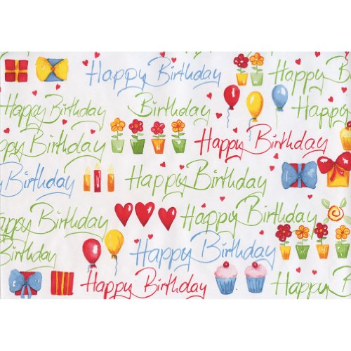 Susy Card 11136132 Geschenkpapier Rolle, Motiv Congratulation Green, Papier, 10 m