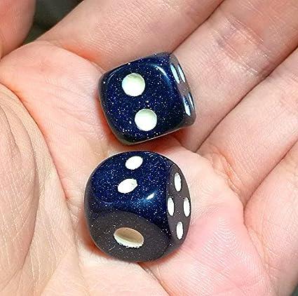 Aventurine Gemstone Dice Pair 15mm d6
