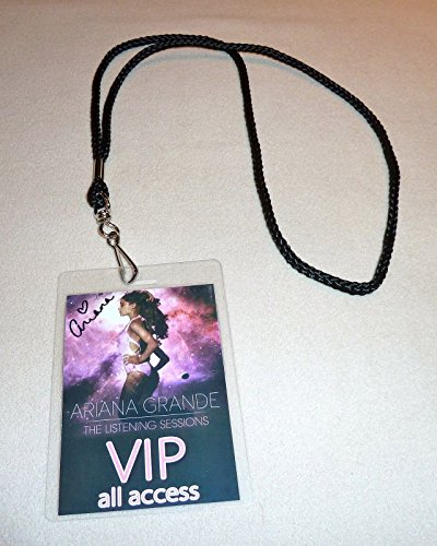 Ariana Grande the Listening Sessions Tour All Area Access Vip Backstage Meet & Greet Package Pass Tickets with Lanyard