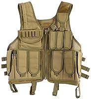 Lixada Tactical Vest Military Airsoft Vest Adjustable Breathable Combat Training Vest