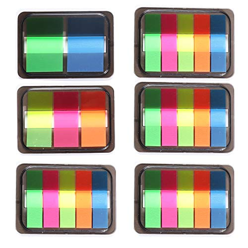 Pop-up Neon Page Marks Index Tabs 6 Sets 500pcs