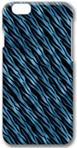 Blue Abstract Waves Apple iPhone 6 Plus Case, 3D iPhone 6 Plus Cases Hard Shell Cover Skin Casess
