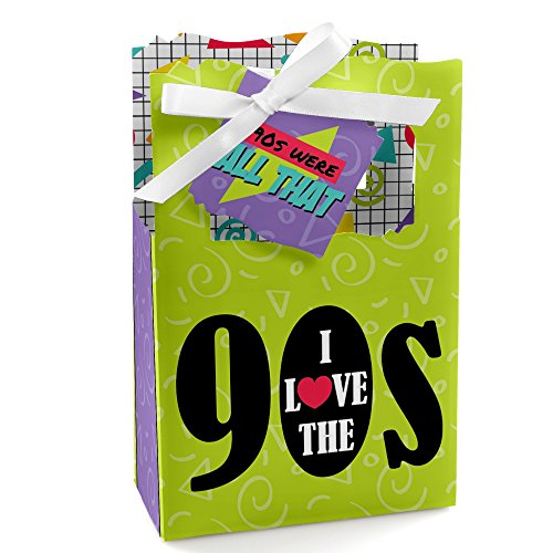 90's Throwback - 1990s Party Favor Boxes - Set of (90s Party Ideas)
