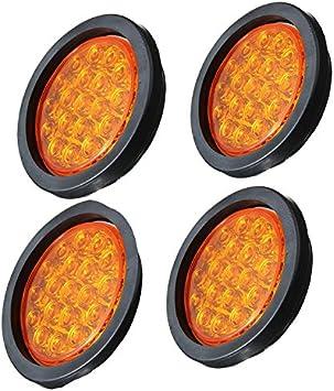 Hehemm 19 Led Auto Runde Rücklichter Seite Blinklicht Atv Led Reflektoren Lkw Seitenmarkierungsblinker Warnleuchten 4 Stück Auto