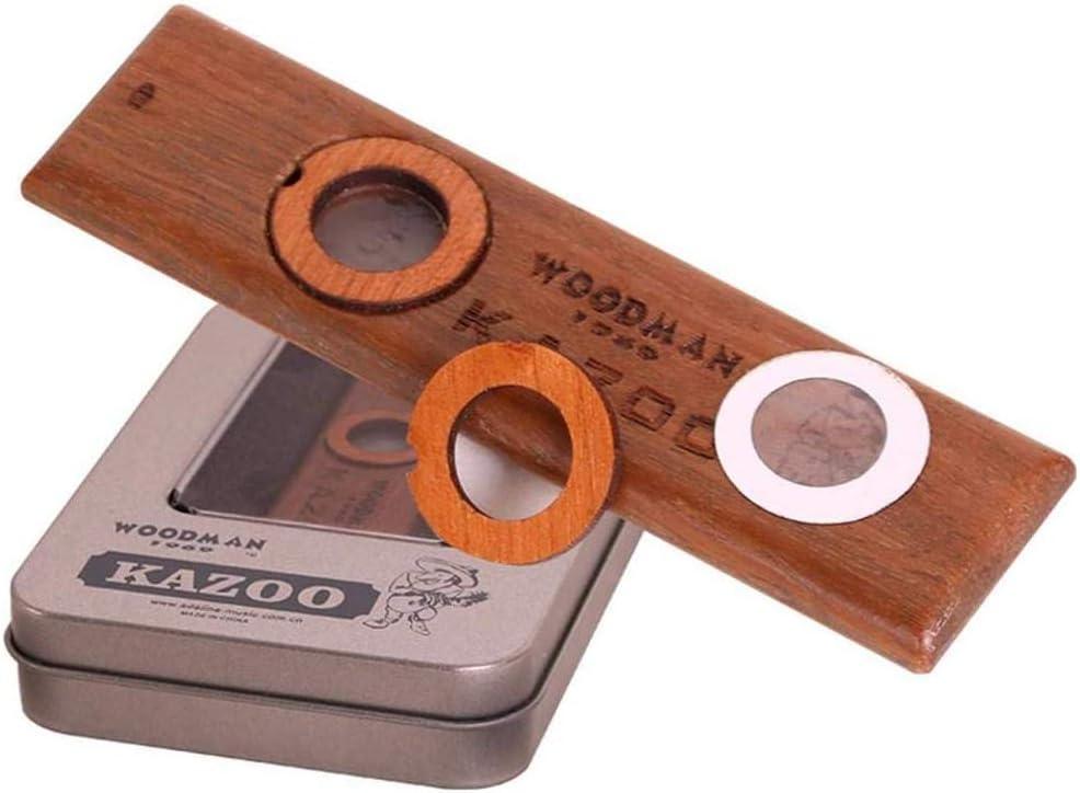 Wooden Kazoo Instruments Ukulele Guitar Partner Wood Harmonica With Metal BoYRDE