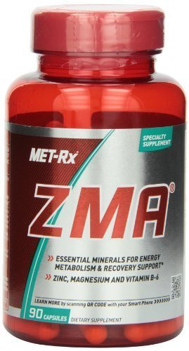 MET-Rx ZMA Diet Supplement Capsules, 90 Count (Pack of 3) by MetRX by MET-Rx