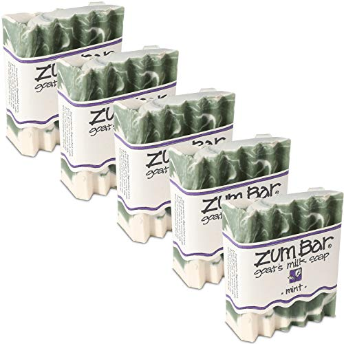 Indigo Wild Zum Bar Goat's Milk Soap Mint 3oz (5 pack) ()