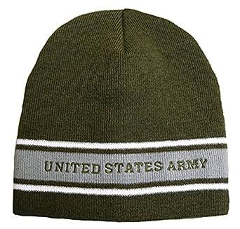 Amazon Com U S Army Fleece Knit Beanie Cap Od Green