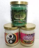 Smoke Odor Exterminator 13 oz Jar Candle Forest Walk Set of (3) Includes Patchouli Amber & Yin Yang.