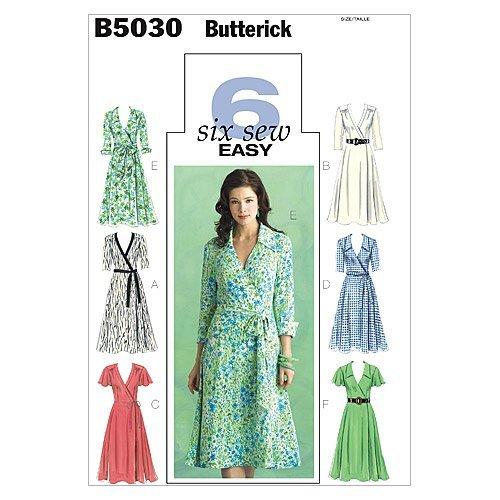 BUTTERICK PATTERNS B5030 Misses' Dress, Belt and Sash, Size FF (16-18-20-22)
