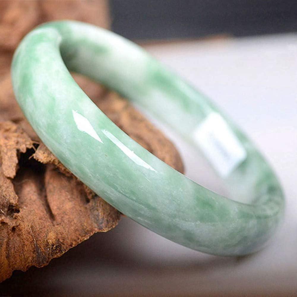 Yarmy Pulsera Brazalete de Jade Tallado a Mano Pulsera de Jade Verde Natural Brazalete Pulsera de Jade Flotante para Mujer