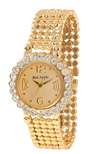 Red-Apple-Analogue-Gold-Dial-Watch-for-Women-RA000018
