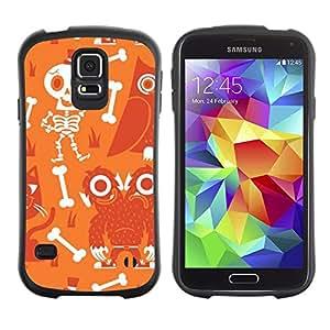 Paccase / Suave TPU GEL Caso Carcasa de Protección Funda para - Scull Skeleton Happy Halloween - Samsung Galaxy S5 SM-G900