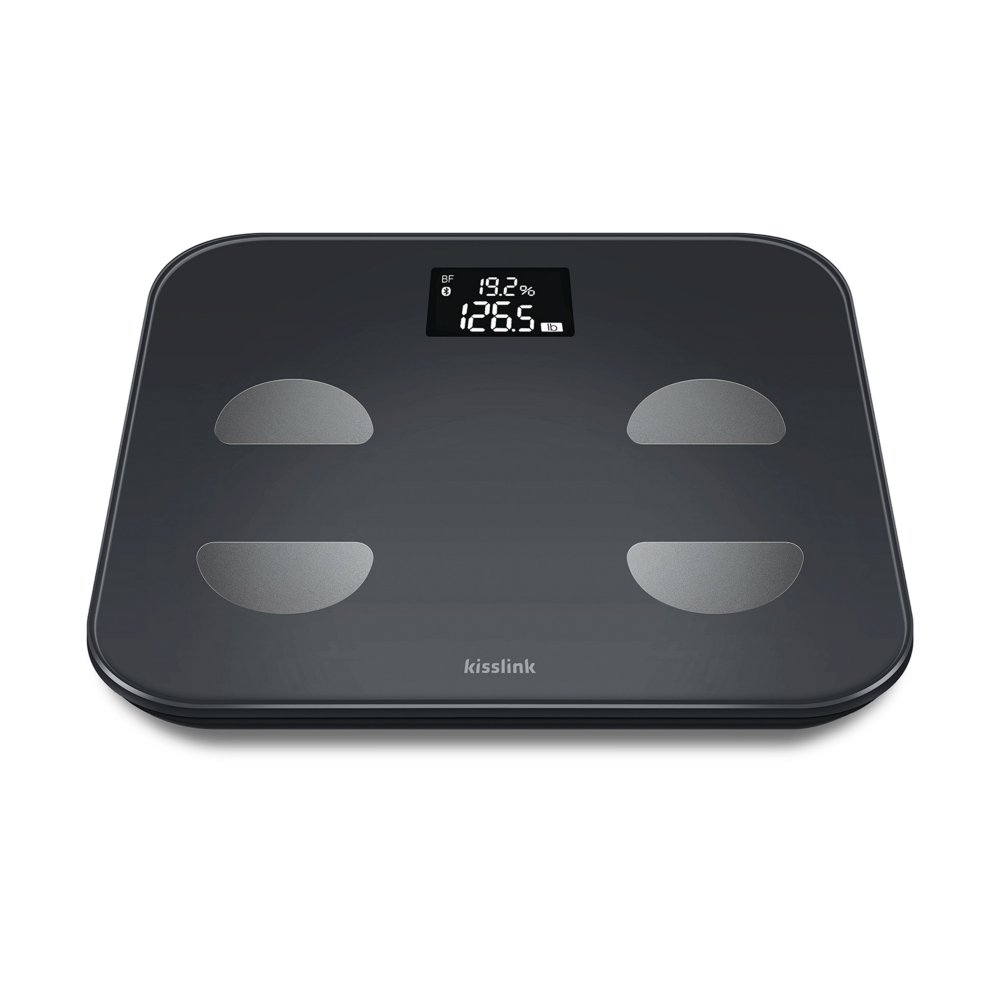 kisslink Smart Body Scale, Body Composition Monitor with High Precision Sensors, 10 Body Statics Body with Kissfit App