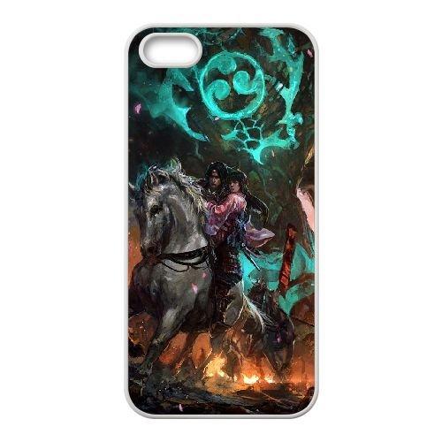 Substantive Rider Monster Girl Horse Destruction Fire coque iPhone 4 4s cellulaire cas coque de téléphone cas blanche couverture de téléphone portable EEECBCAAN05313