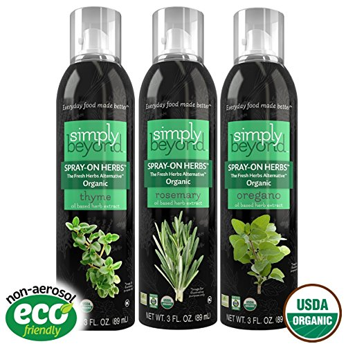 Simply Beyond Organic Spray-On Herbs Seasoning - Taste of Provence (Oregano, Rosemary, Thyme)