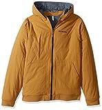 Columbia Boys' Big Evergreen Ridge Reversible Jacket, Maple, Collegiate Navy Heather, Medium