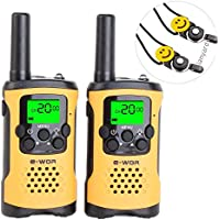 E-wor Walkie Talkies For Kids ,22 Channels FRS/GMRS UHF Kids Walkie Talkies, 2 Way Radios 4 Miles Walkie Talkies Kids Toys With Flashlight, 1 Pair