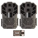 Stealth Cam Dual Sensor STC-DS4K Trail Camera, 30 Megapixel/4K Ultra HD Video – 2-Pack with Focus USB Reader