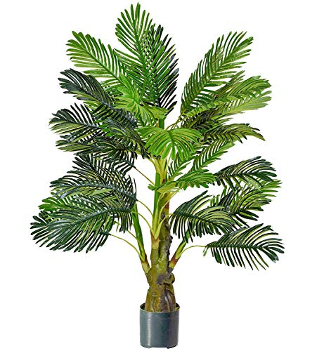 - Woooow 4-Feet Palm Tree,Real Touch Palm Leaves Areca Palm Tree Decorations for Office House Decor,Fake Plant Artificial Greenery Plants Decorative Trees Indoor Outdoor Use