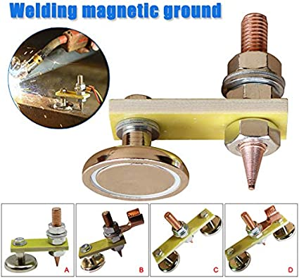 Fintass Welding Magnets Head Magnetic Ground Clamp Welding Support Accessories Tool Welding Support Large Suction