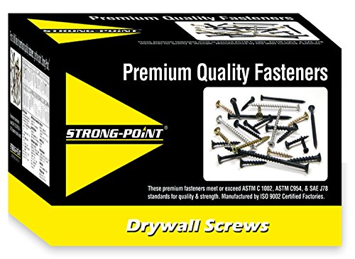 #8 x 1-1/4'' PHILLIPS MODIFIED TRUSS HEAD BLACK OXIDE SCREWS 5M Box by Strong-Point (Image #2)