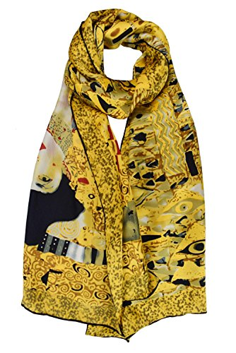 - Luxurious 100% Charmeuse Silk Long Scarf Hand Rolled Edge Adele Bloch-bauer