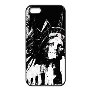 Statue of Liberty Illustration iPhone 5 5s Cell Phone Case Black Delicate gift JIS_306980