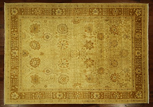 (Bh Sun H6410 New 10 x 14 ft. Oushak Collection Ivory Chobi Mahal Ziegler Hand Knotted Wool Rug)