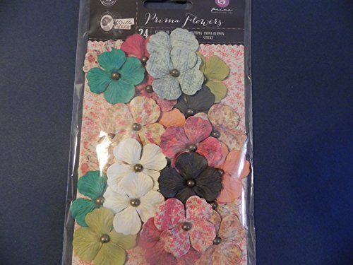 Prima Bella Rouge Mulberry Paper Flowers, Daisy