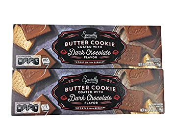 Amazon Com German Dark Chocolate Covered Butter Cookies 4 4 Ounce