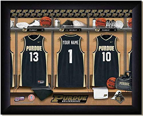 Purdue Boilermakers Basketball Team Locker Room Personalized Jersey Officially Licensed NCAA Sports Photo 11 x 14 Print