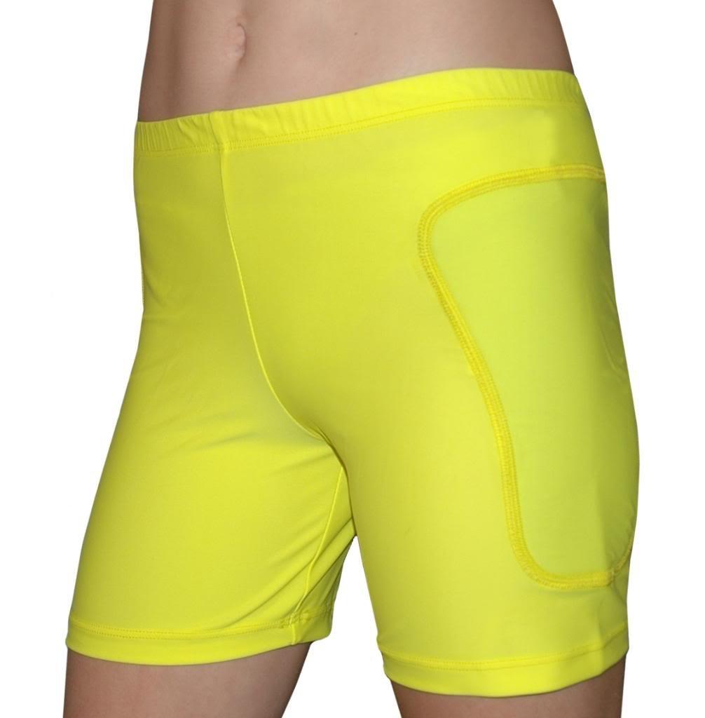 Tuga Padded Slider Shorts, 5'' Inseam, Neon Yellow, XX-Small by Tuga Sportz