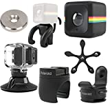 Polaroid Cube ACT II HD 1080p Lifestyle Action Video Camera (Black) Gift Bundle + Waterproof Case + Suction Mount + Flexi Pod Mount + Magnet Adapter + Monkey Stand + Bike Mount + Strap Mount