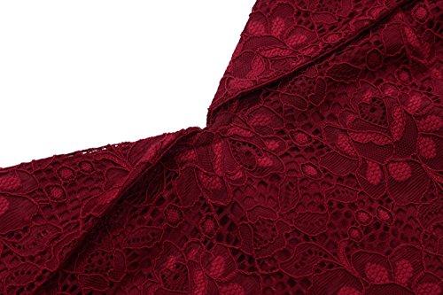 lgant de Mariage de d'honneur KAXIDY Rouge Demoiselle Robe Robe Vin Soire Lace Fte Femme 6wvIw8dqxB