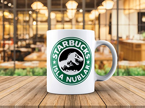 Jurassic Park Starbucks inspired Isla Nublar Coffee Tea Mug 11oz Jurassic World