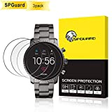 SPGuard Compatible Fossil Gen 4 Q Explorist Screen Protector[3 Pack], 41mm 9HPremium Rounded Anti-Fingerprint [Bubble-free][Anti-glare] Tempered Glass Screen Protector for Fossil Explorist Watch