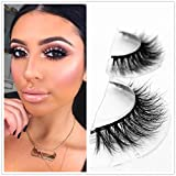 Mink 3D Lashes Dramatic Makeup Strip Eyelashes 100% Siberian Fur Fake Eyelashes Hand-made False Eyelashes 1 Pair Package Miss Kiss (3D04)