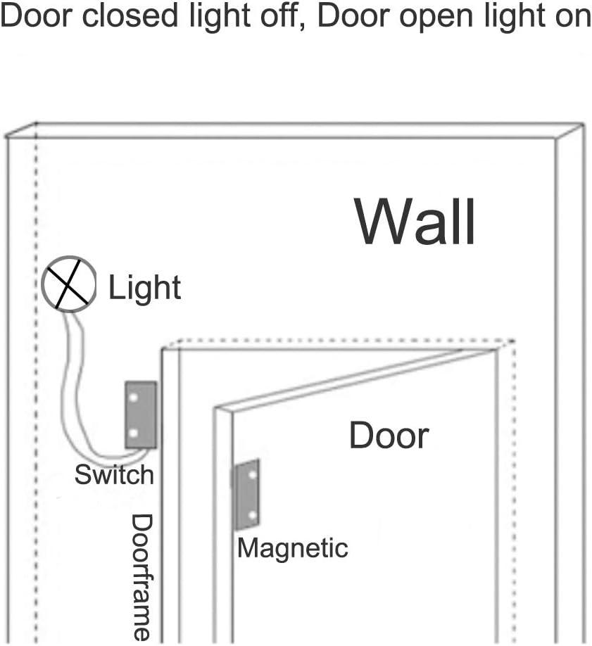Blanco Gebildet 3pcs Cableado Empotrado Seguridad de Ventana//Puerta Sensor de Contacto Alarma Interruptor de L/áminas Magn/ético,Sensor de Puerta Magn/ético,Interruptor magn/ético Normalmente Abierto