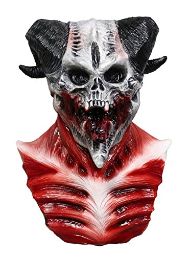 Cave Demon Mask Skull Skeleton One size scary, Halloween Adult Mask