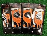 4 Zero Friction Men's Left Hand Universal Golf Gloves - Chicago Bears - Orange