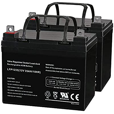 Weize 12V 35AH Deep Cycle Battery for Scooter Pride Mobility Jazzy Select Electric Wheelchair