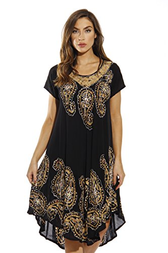 New Black Leggings - Riviera Sun 20469-NEW-BB-XL Dress/Dresses for Women Black/Beige