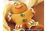 Silikomart Silicone Let's Celebrate Bakeware Collection Cake Pan, Mr. Ginger