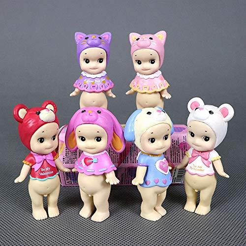 BoldType S-Doll Related - 6pcs/lot Cute Pink Sonny Angel Valentine Rabbit Bear Romantic Kewpie Doll Figure Toy Girl Friend Birthday Gift 1 PCs from BoldType