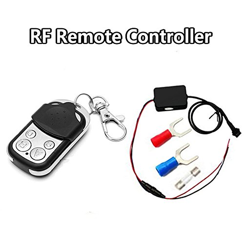 Motorcycle Atmosphere Light Controller, BT RGB Neon Accent Glow Lights Flexible Lamp 4Key RF Remote Controller
